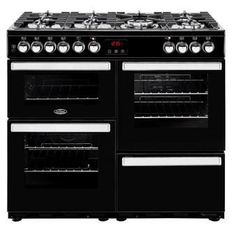 Image of Belling 444444083 Cookcentre 100DFT 100cm Dual Fuel Range Black