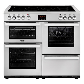 Belling 444444084 Cookcentre Prof 100E 100cm Electric Range Cooker St