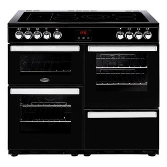 Belling 444444086 Cookcentre 100E 100cm Electric Range Cooker Black