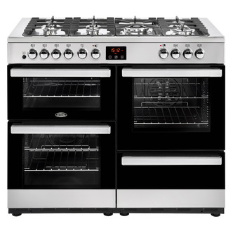 Image of Belling 444444094 Cookcentre 110DFT 110cm Dual Fuel Range St Steel
