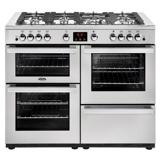 Belling 444444099 Cookcentre 110G Prof 110cm Gas Range Stainless Steel