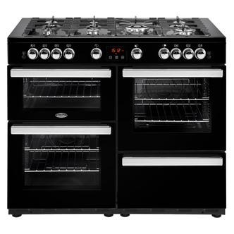 Image of Belling 444444101 Cookcentre 110G 110cm Gas Range Cooker in Black