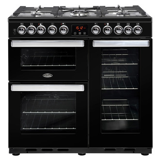 Belling 444444105 90cm Cookcentre Deluxe 90DFT Dual Fuel Range in Blac