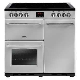Image of Belling 444444125 Farmhouse 90E 90cm Electric Range Cooker in Silver