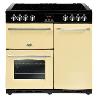 Image of Belling 444444126 Farmhouse 90E 90cm Electric Range Cooker in Cream