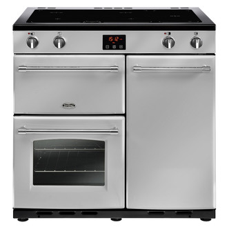 Image of Belling 444444131 Farmhouse 90Ei 90cm Electric Range Cooker in Silver