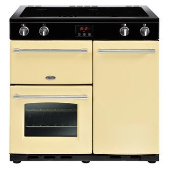 Image of Belling 444444132 Farmhouse 90Ei 90cm Electric Range Cooker in Cream