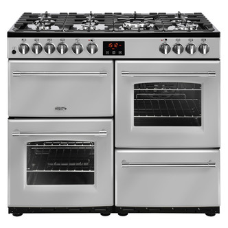 Belling 444444134 Farmhouse 100DFT 100cm Dual Fuel Range Cooker in Sil