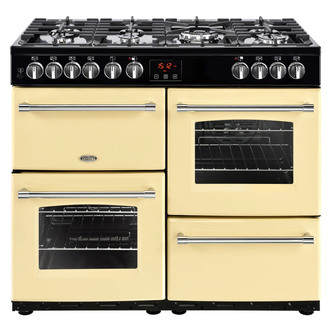 Image of Belling 444444135 Farmhouse 100DFT 100cm Dual Fuel Range Cooker in Cre