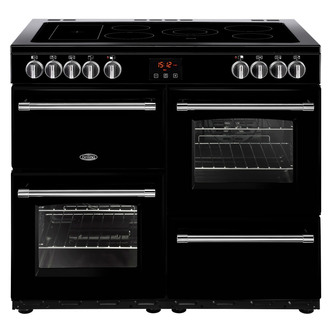 Image of Belling 444444136 Farmhouse 100E 100cm Electric Range Cooker in Black