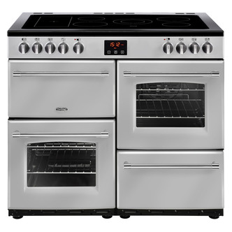 Image of Belling 444444137 Farmhouse 100E 100cm Electric Range Cooker in Silver