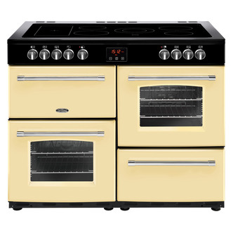 Image of Belling 444444138 Farmhouse 100E 100cm Electric Range Cooker in Cream