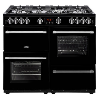 Image of Belling 444444139 Farmhouse 100G 100cm Gas Range Cooker in Black