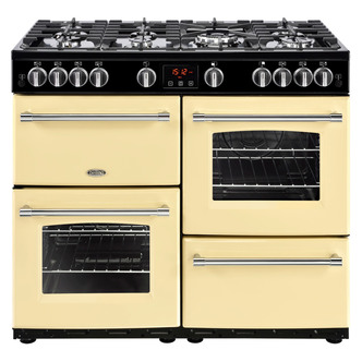 Image of Belling 444444141 Farmhouse 100G 100cm Gas Range Cooker in Cream