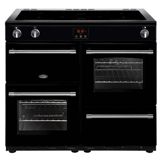 Image of Belling 444444142 Farmhouse 100Ei 100cm Electric Range Cooker in Black