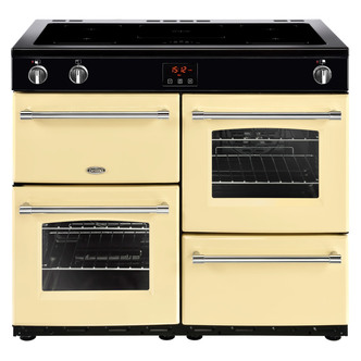 Image of Belling 444444144 Farmhouse 100Ei 100cm Electric Range Cooker in Cream