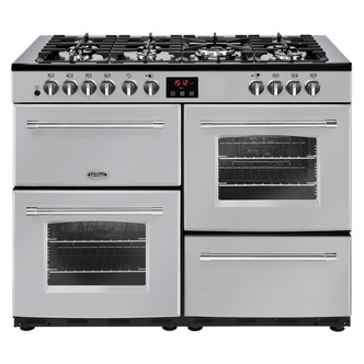 Image of Belling 444444146 Farmhouse 110DFT 110cm Dual Fuel Range Cooker in Sil