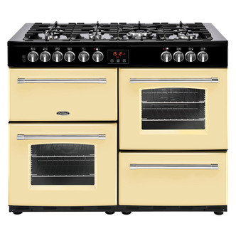Image of Belling 444444147 Farmhouse 110DFT 110cm Dual Fuel Range Cooker in Cre