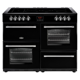 Belling 444444148 Farmhouse 110E 110cm Electric Range Cooker in Black