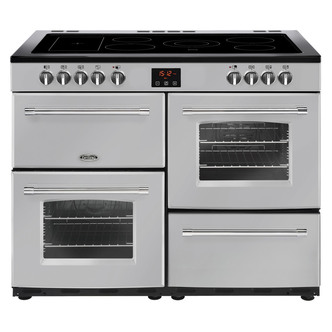Image of Belling 444444149 Farmhouse 110E 110cm Electric Range Cooker in Silver