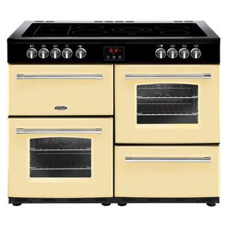 Belling 444444150 Farmhouse 110E 110cm Electric Range Cooker in Cream