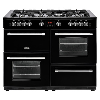Image of Belling 444444151 Farmhouse 110G 110cm Gas Range Cooker in Black