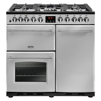 Image of Belling 444444158 90cm Farmhouse Deluxe 90DFT Dual Fuel Range in St St