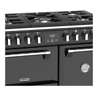 Stoves 444444435 Richmond S900DF 90cm Dual Fuel Range Cooker in Black