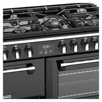 Stoves 444444451 Richmond S1000DF 100cm Dual Fuel Range Cooker in Blac