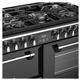 Stoves 444444466 Richmond S1100DF 110cm Dual Fuel Range Cooker in Blac