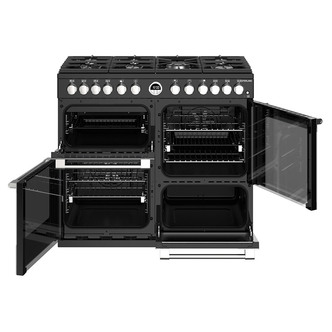 Stoves 444444491 Sterling S1000DF 100cm Dual Fuel Range Cooker in Blac