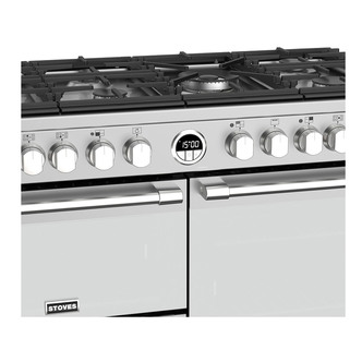 Stoves 444444492 Sterling S1000DF 100cm Dual Fuel Range Cooker in St S