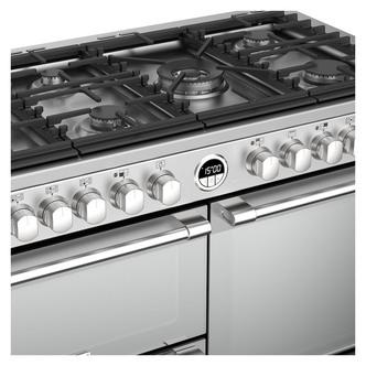 Stoves 444444502 Sterling S1100DF 110cm Dual Fuel Range Cooker in St S