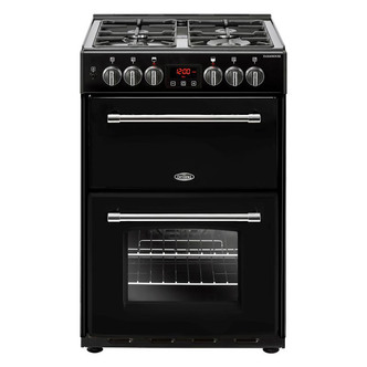 Image of Belling 444444714 Farmhouse 60DF 60cm Dual Fuel D Oven Cooker in Black