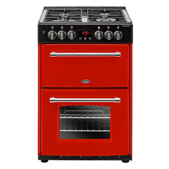 Image of Belling 444444715 Farmhouse 60DF 60cm Dual Fuel D Oven Cooker in Jalap