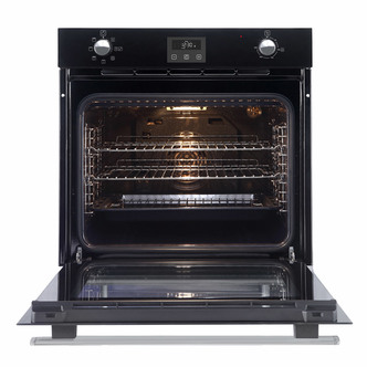 Image of Belling 444444774 Built In Single Electric Fan Oven in Black A Rated