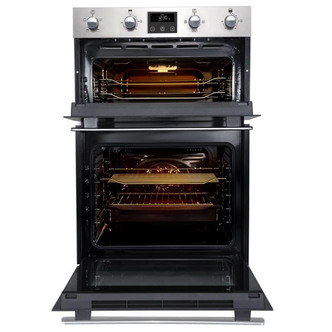 Image of Belling 444444785 Built In Electric Double Oven in St Steel Programmab