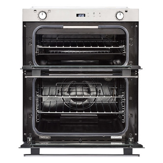 Image of Belling 444444793 70cm Built Under Gas Double Oven in St Steel