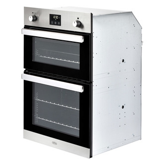 Image of Belling 444444795 Built In Gas Double Oven in St Steel Programmable Ti