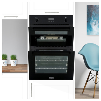Stoves 444444843 90cm Built In Gas Double Oven in Black