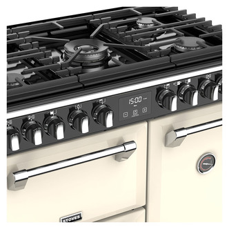 Stoves 444444898 Richmond DX S900DF 90cm Dual Fuel Range Cooker in Cre
