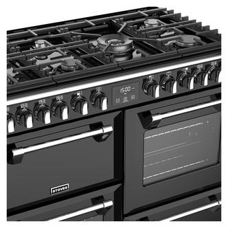 Stoves 444444907 Richmond DX S1000DF 100cm Dual Fuel Range Cooker Blac