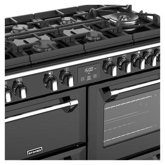 Stoves 444444909 Richmond DX S1000GTG 100cm Dual Fuel Range Cooker Bla