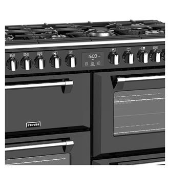 Stoves 444444917 Richmond DX S1100DF 110cm Dual Fuel Range Cooker Blac