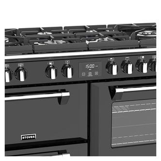Stoves 444444919 Richmond DX S1100DF GTG 110cm Dual Fuel Range in Blac