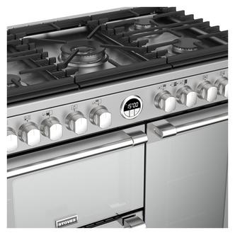 Stoves 444444932 Sterling DX S900DF 90cm Dual Fuel Range Cooker St Ste