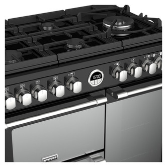 Image of Stoves 444444933 Sterling DX S900DF GTG 90cm Dual Fuel Range Black