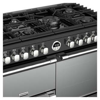 Stoves 444444941 Sterling DX S1000DF 100cm Dual Fuel Range Cooker Blac