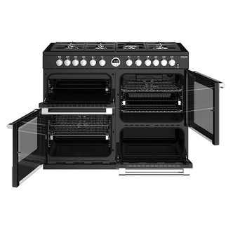 Stoves 444444951 Sterling DX S1100DF 110cm Dual Fuel Range Cooker Blac
