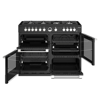 Stoves 444444955 Sterling DX S1100G 110cm Gas Range Cooker Black